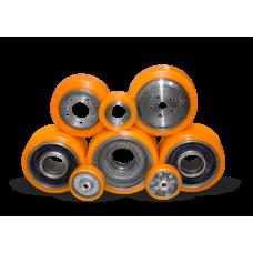 Восстановление колес и роликов полиуретаном для подборщиков заказов.